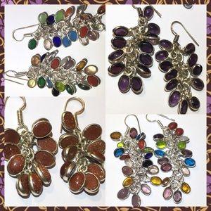 Festive Cha Cha Natural Gemstone Handmade Earrings